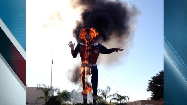 """""""Big Tex"""" en llamas"""