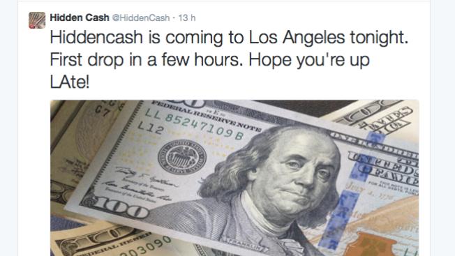"""En Los Angeles, dinero de """"Hidden Cash"""""""