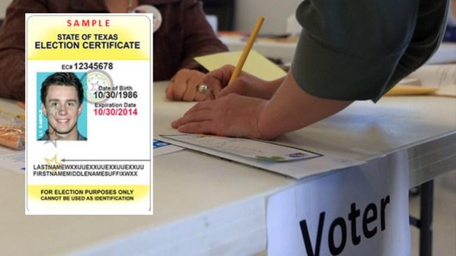 Identificación para votar en Texas