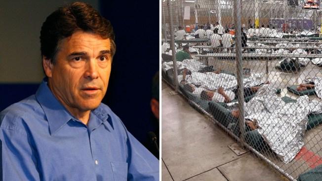 Perry visita albergue de inmigrantes