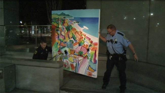 Intentan robar pintura en la torre Chase
