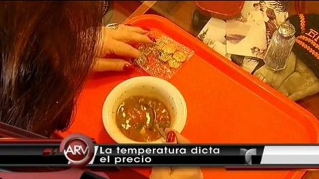 Clima determina precio de la sopa