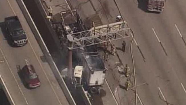 Bloqueada la SW Freeway por accidente