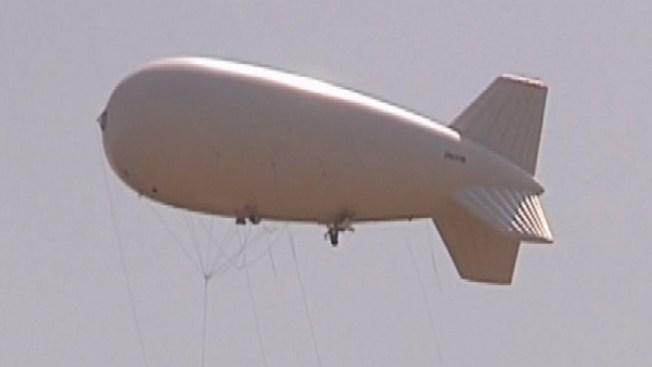 Globos aerostáticos vigilan la frontera