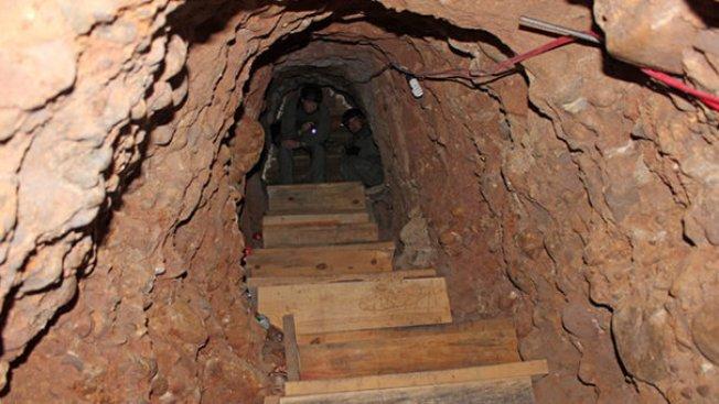 Descubren túnel en la frontera de México