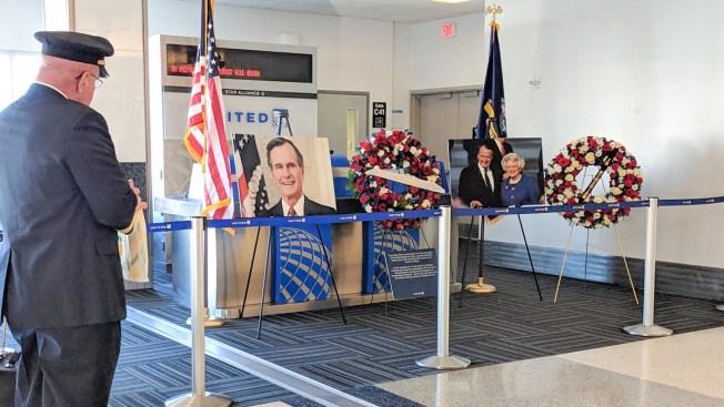 Homenaje al 41 en el Aeropuerto International Bush
