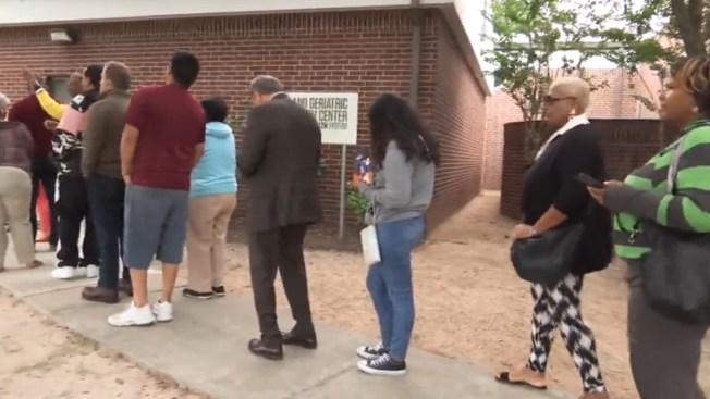 Rompen récord en primer día de votación temprana en Harris