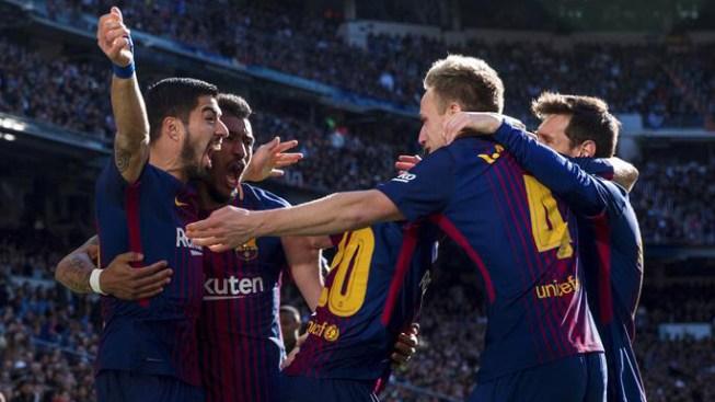 Barcelona golea al Real Madrid en el clásico español